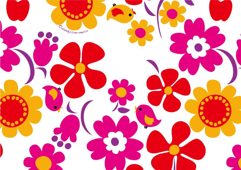 大きな花柄