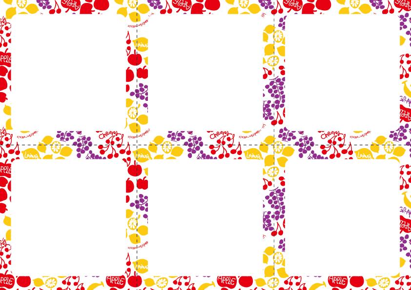 フルーツ柄メモ用紙