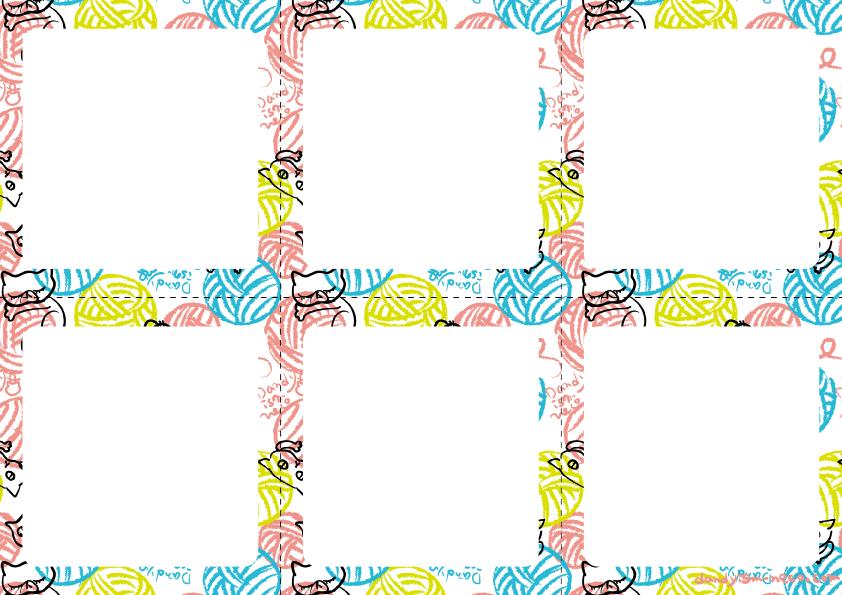 毛玉猫柄メモ用紙