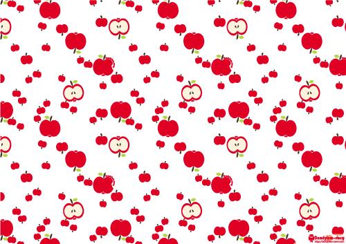 リンゴ柄A4ペーパー