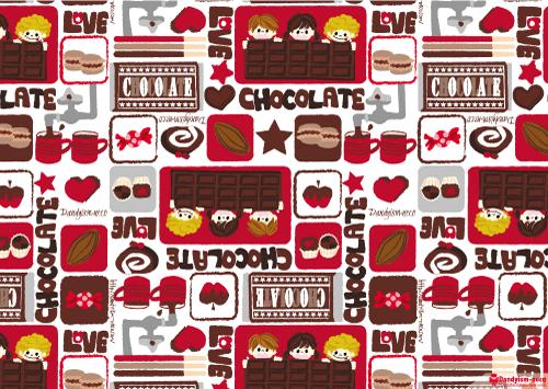 チョコレート柄A4ペーパー