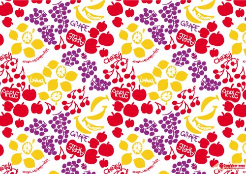 フルーツ柄A4ペーパー