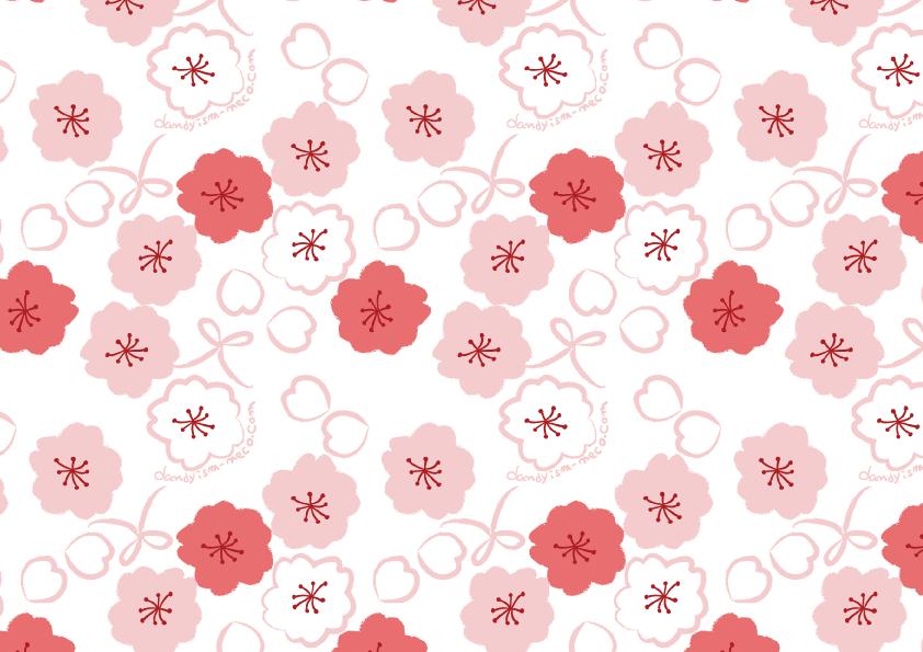 桜柄 包装紙