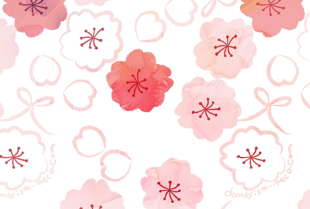 桜柄ポストカード