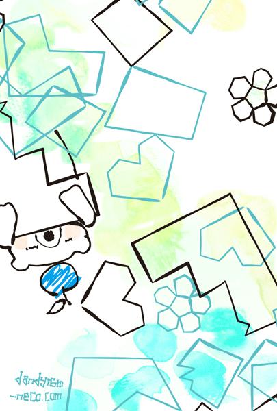 シロクマ柄ポストカード