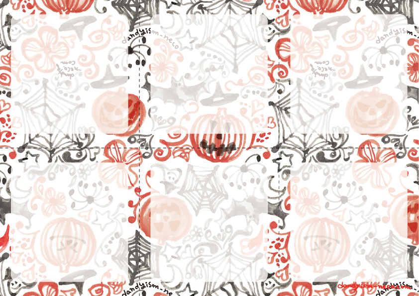 ハロウィン柄 メモ用紙